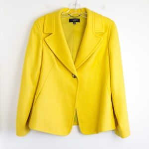 Talbots canary yellow wool blazer fall warm 10 L